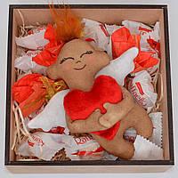 """Подарок девушке, жене, подруге (набор сладкий """"Ангел"""") Оригинальный подарок на 14 февраля, 8 марта. С любовью"""