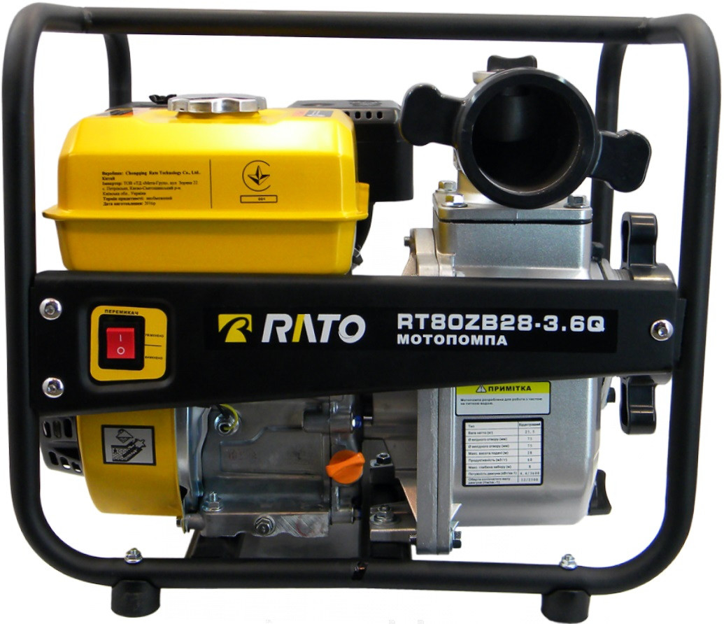 Мотопомпа для чистої води RATO RT80ZB28-3.6Q