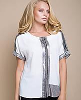 2efa62add99 Женская белая классическая блузка больших размеров (Алана lzn ...