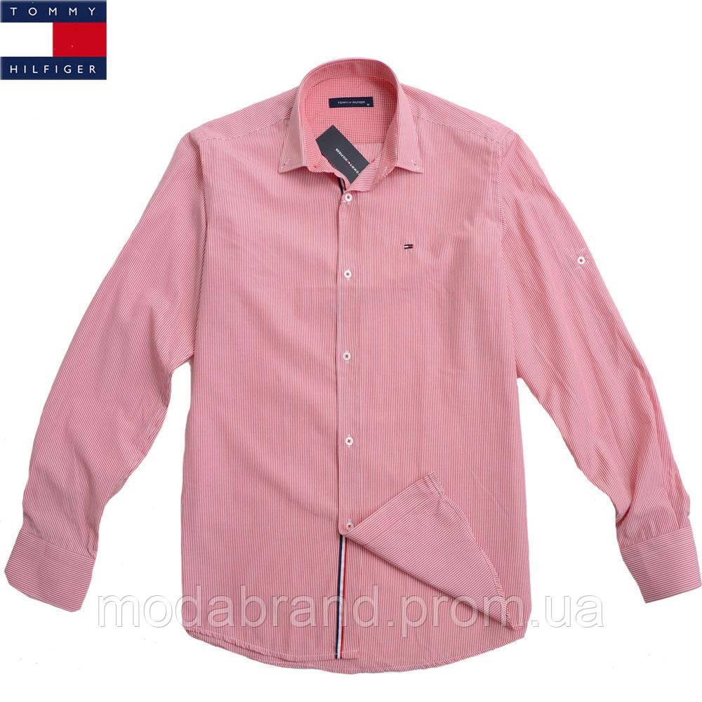 748d48b28f1e Элегантная мужская рубашка в тонкую полоску Tommy Hilfiger