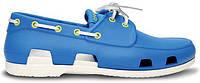 Мужские кроксы Crocs голубые/белые