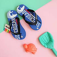 Дитячі в'єтнамки шльопанці на хлопчика пляжне взуття тм Super Gear р. 30,31