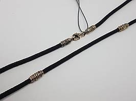 Ювелирный шелковый шнурок с золотыми вставками. Артикул Ш0033-4В/Д4ШН 60