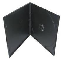 Бокс для диска РР 7мм (VCD,одиночна чорна,поліпропілен) глянсова плівка