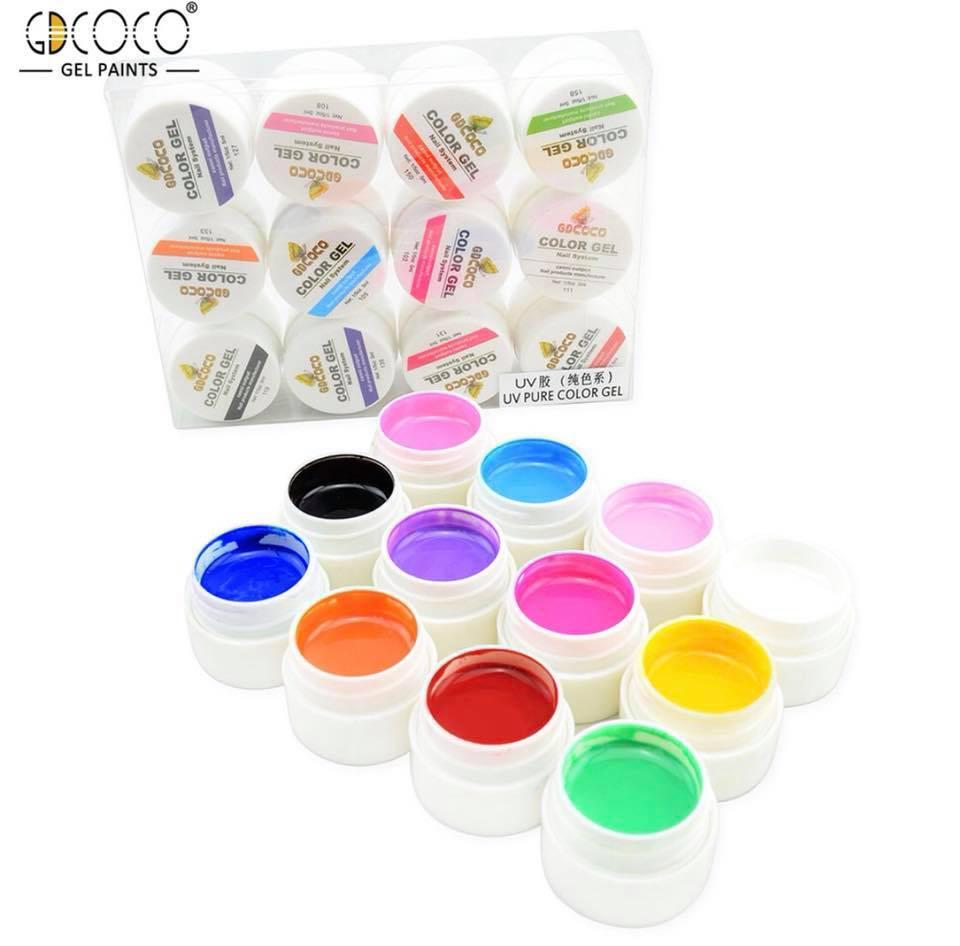 Набор гель-красок GDCoco Color Gel 12 шт 5 мл