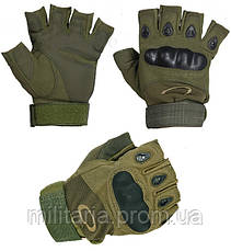 Тактические перчатки Oakley (Беспалый). - Khaki  (oakley-olive), фото 3