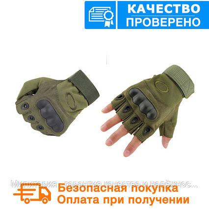 Тактические перчатки Oakley (Беспалый). - Khaki  (oakley-olive), фото 2