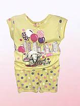 Костюм для девочек шортики и футболка (2305/12)