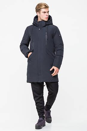 Мужская удлиненная куртка встиле casual CW18MD040CN (синяя #501), фото 2