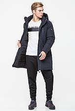 Мужская удлиненная куртка встиле casual CW18MD040CN (синяя #501), фото 3