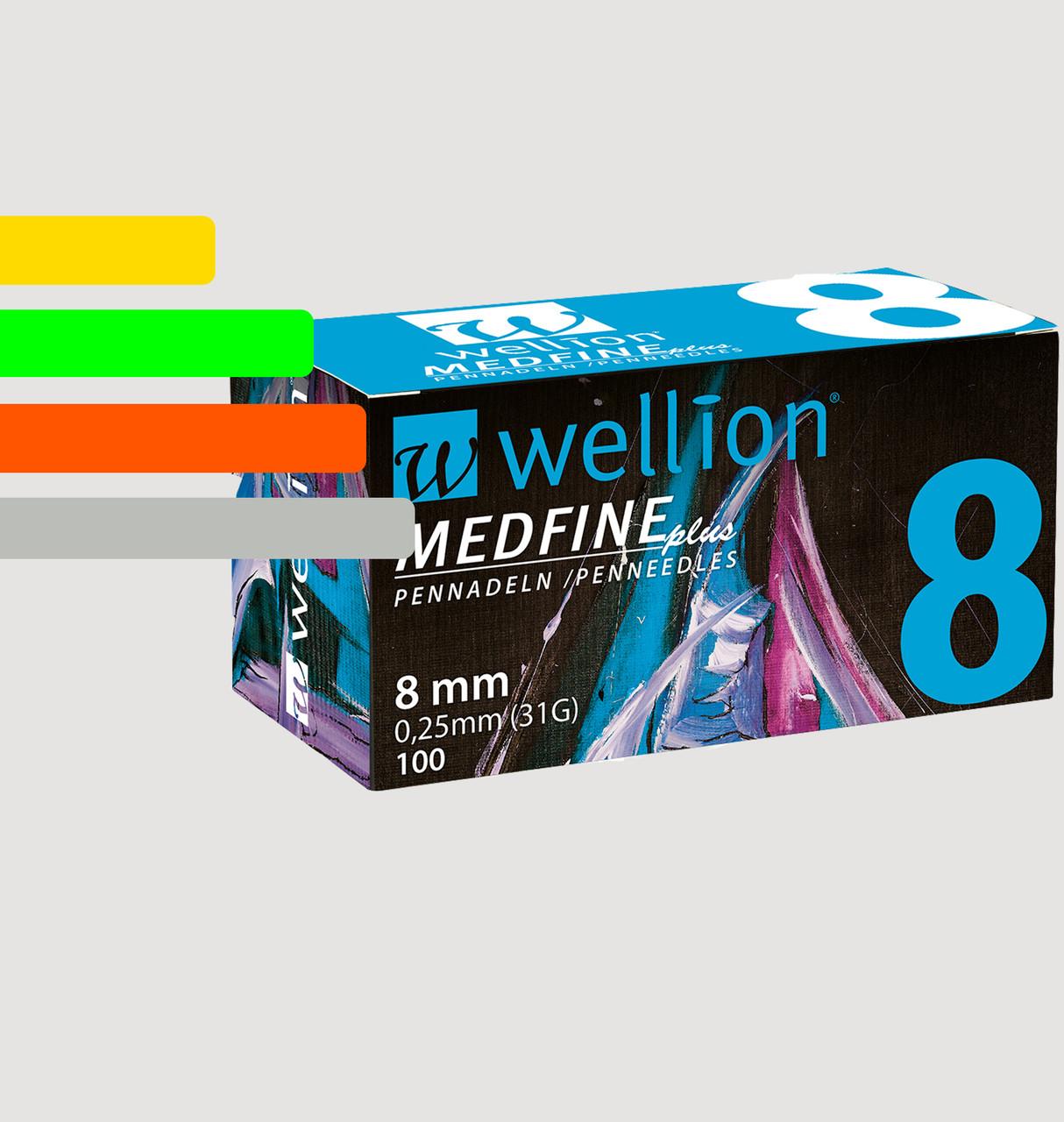 Иглы инсулиновые Wellion Medfine 8мм, 31G - Веллион Медфайн 8мм