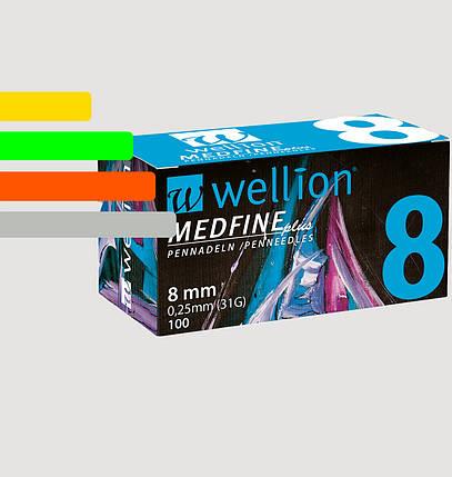 Иглы инсулиновые Wellion Medfine 8мм, 31G - Веллион Медфайн 8мм, фото 2