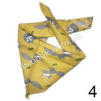 Слюнявчик, арафатка, шарф, бандана Bape лисята на желтом фоне