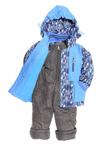 Детский комбинезон весна-осень на флисе для мальчика от 1,5 до 4 лет синий, фото 2