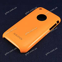 Чехол для Apple iPhone 3G, 3Gs, пластиковый, Buble Pack, оранжевый