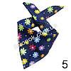 Слюнявчик, арафатка, шарф, бандана Bape темно-синяя с цветами