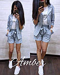 Женский стильный костюм в полоску: рубашка и шорты (3 цвета), фото 6