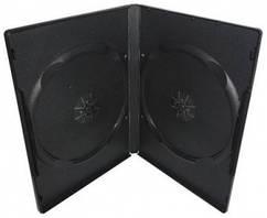 Бокс для 2 DVD дисків 9mm Black глянцева плівка