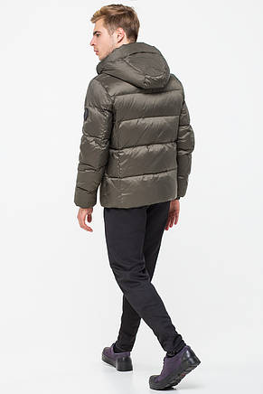 Стильная зимняя мужская куртка CW18MD054DN в спортивном стиле - хаки (#459), фото 2