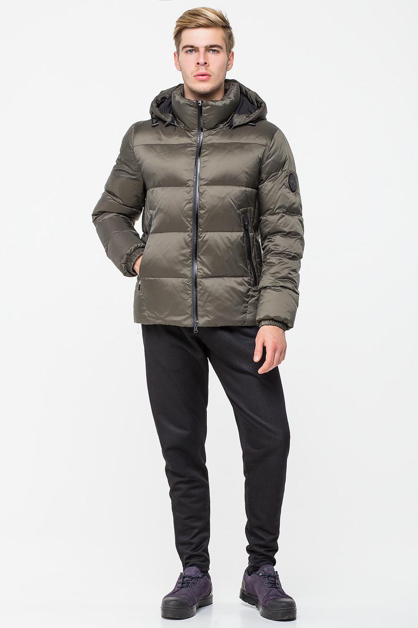 Стильная зимняя мужская куртка CW18MD054DN в спортивном стиле - хаки (#459)