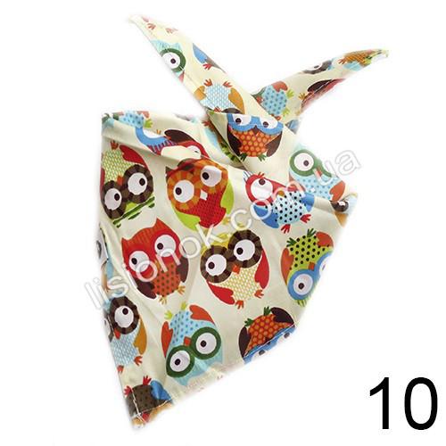 Слюнявчик, арафатка, шарф, бандана Bape бежевая с совами