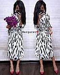 Женское красивое бело-черное платье-миди , фото 2