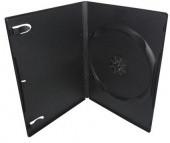 Бокс для 1 DVD диска 14mm Black глянцевая пленка