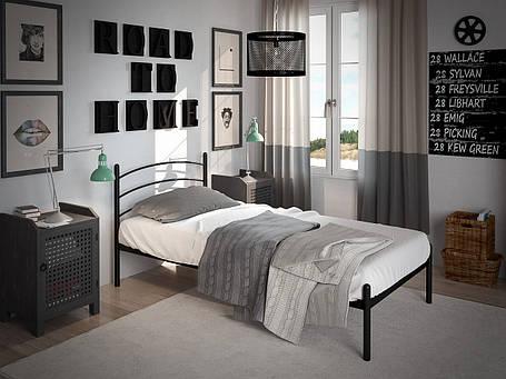 Кровать Маранта Мини Черный Бархат 90*190 (Tenero TM), фото 2
