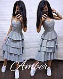 """Женское платье х/б """"Рюша"""" (3 цвета), фото 2"""