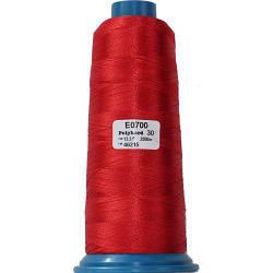 Нитки для машинной вышивки полиэстер 30 цвет красный 0700