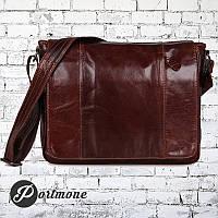 """Мужская сумка """"Почтальон brown"""" из натуральной кожи, фото 1"""