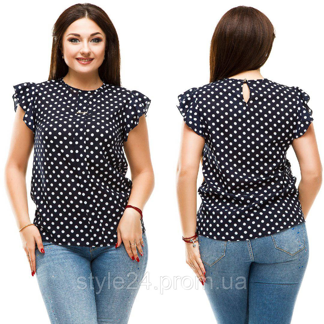 ЖІноча літня блуза з принтом великих розмірів (50-56)