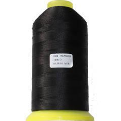 Нитки для машинной вышивки полиэстер 20 цвет черный