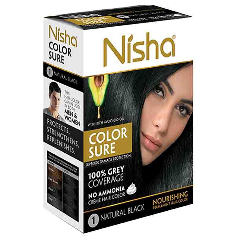Nisha №1. Безаммиачная краска для волос черная, 40 мл
