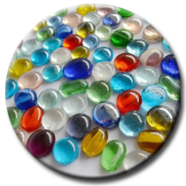Стеклянные камешки марблс, искусственный лед, кристаллы