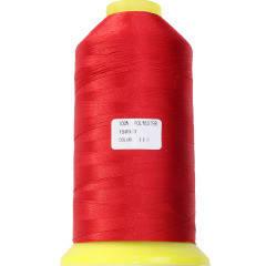 Нитки для машинної вишивки поліестер 20 колір червоний