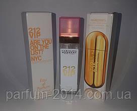 Женский мини парфюм каролина эррера 212 вип Carolina Herrera 212 VIP 40 ml (лиц) аромат духи запах тестер