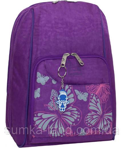 Женский школьный фиолетовый рюкзак Bagland Стингер 16 л с узором Бабочки