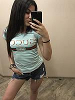 Женская стильная летняя футболка Gucci, фото 1