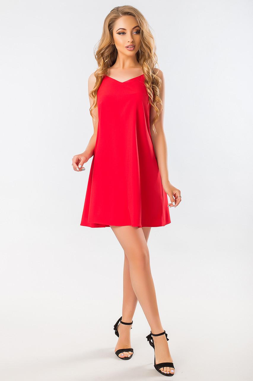 f7c1a495cf3 Летнее платье красное легкое с бантом на спине S (44)  481 грн ...