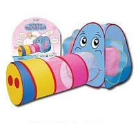 Палатка детская игровая 889-87B тоннель, размер 166*83*73 см, в сумке