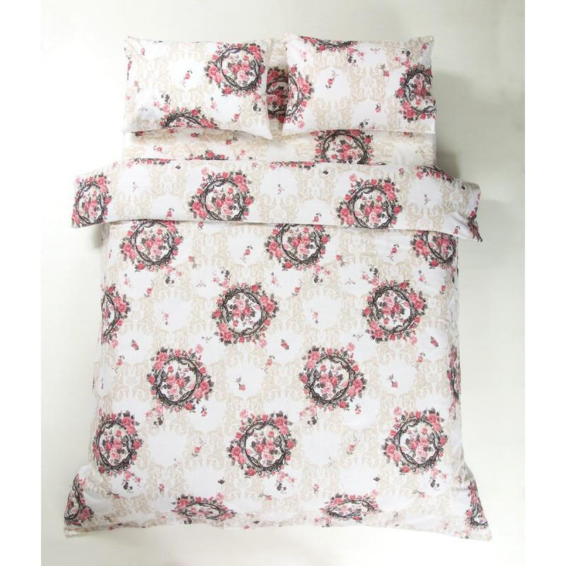 Постельное белье Lotus Ranforce - Angelique V1 розовый семейное