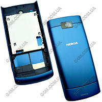 Корпус Nokia X3-02 Touch and Type синий (High Copy)