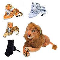 Интерьерная игрушка большая (44см) - Лев, Леопард, Тигр коричневый