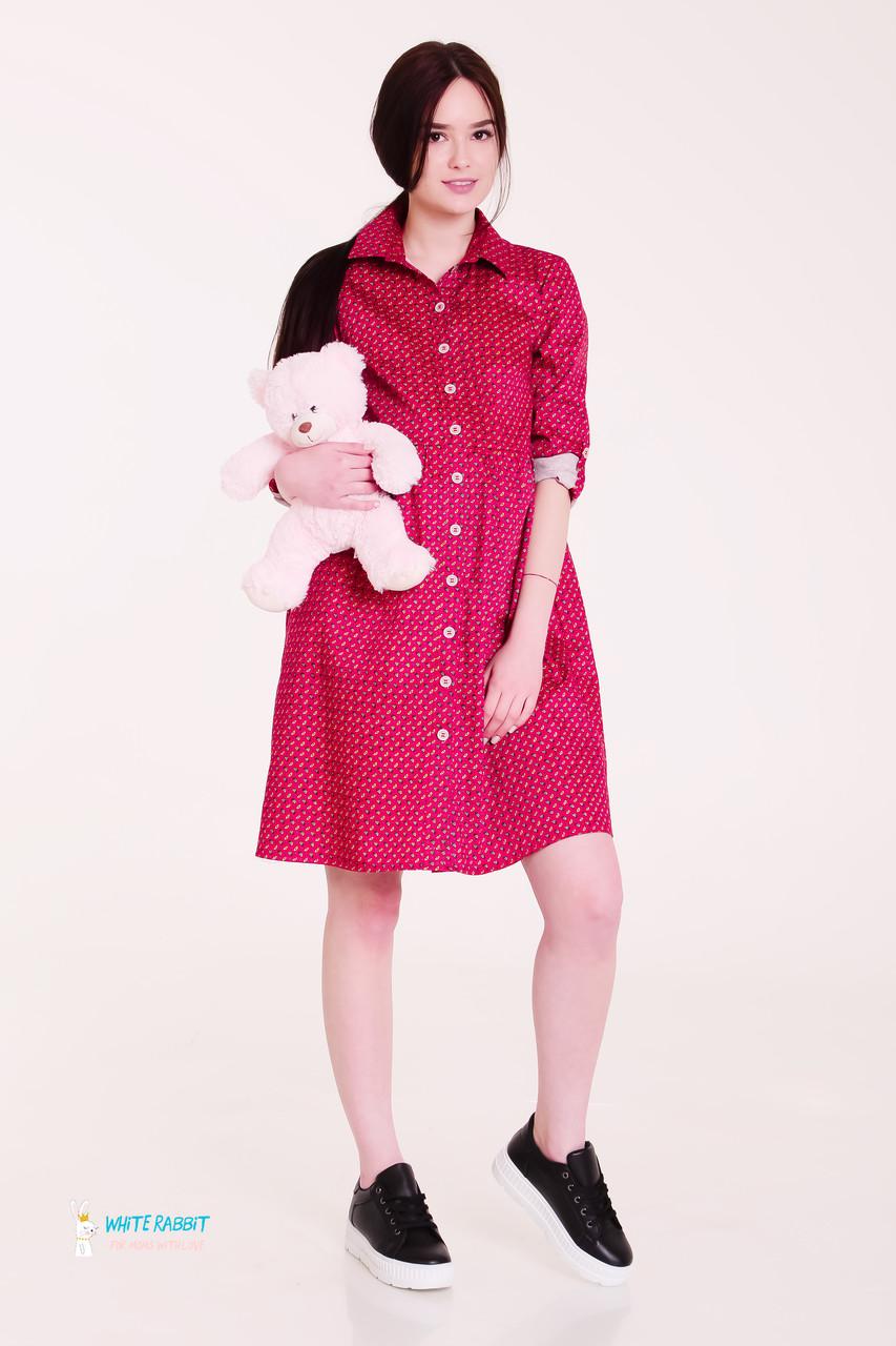 8cd2545293a Платье-рубашка для Беременных и Кормящих Красное МАМ MOONY M — в ...