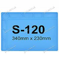 Силиконовый термостойкий коврик для пайки S-120 (34см на 23см)