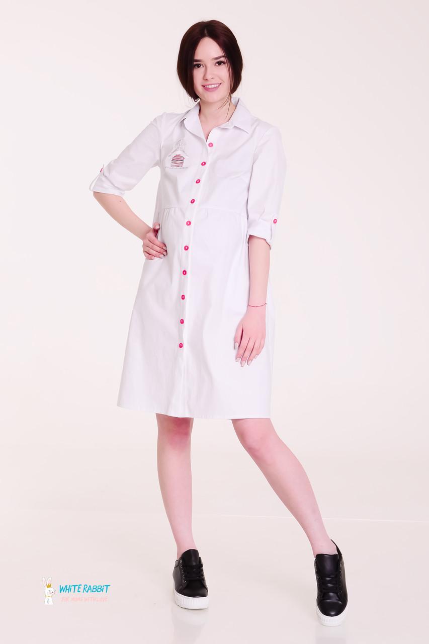 03764b54a6a Платье-рубашка для беременных и кормящих белое МАМ MOONY - АНГЕЛОЧКИ в  Харькове