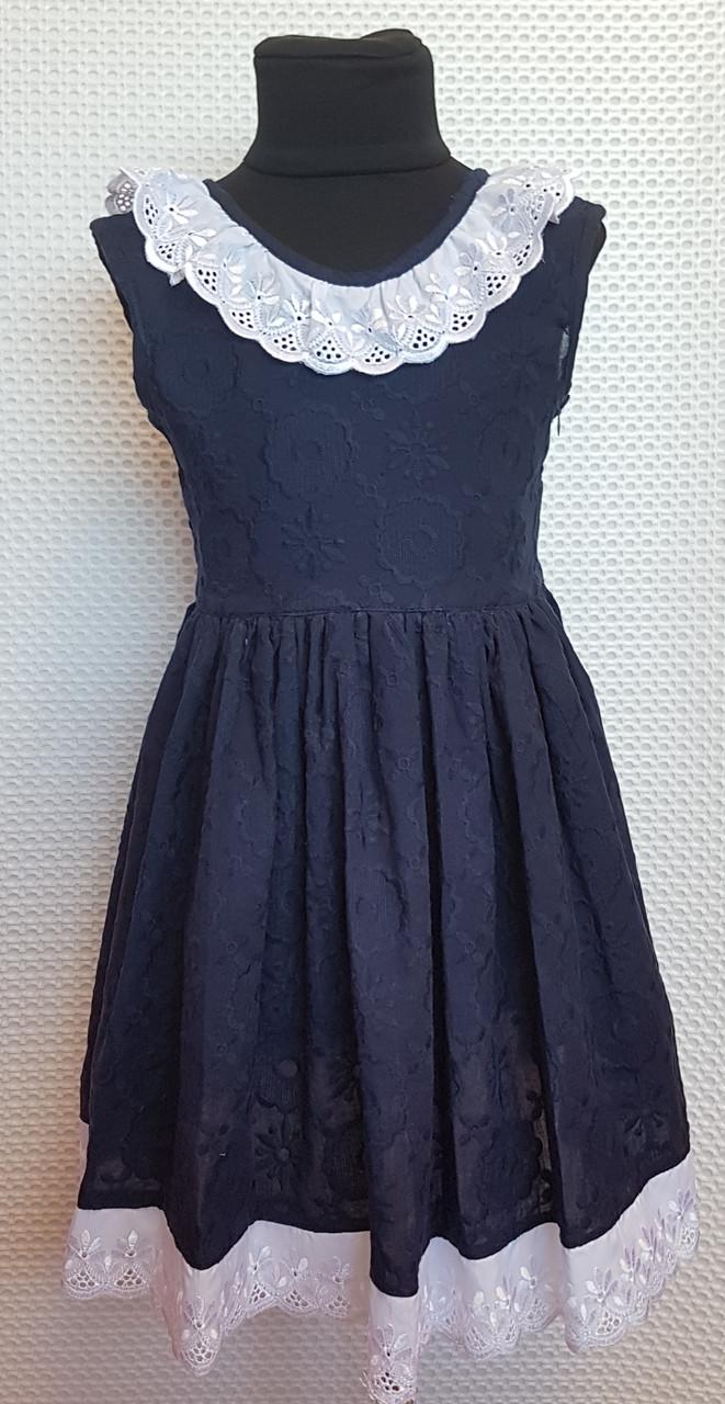 Платье для девочки Мери р.116-128 темно-синий