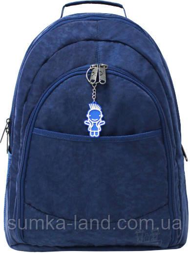 Мужской синий рюкзак Bagland Сити 32 л