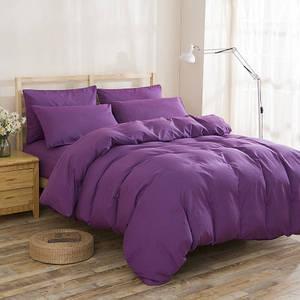 Подростковый комплект постельного белья Сатин Премиум Фиолетовый